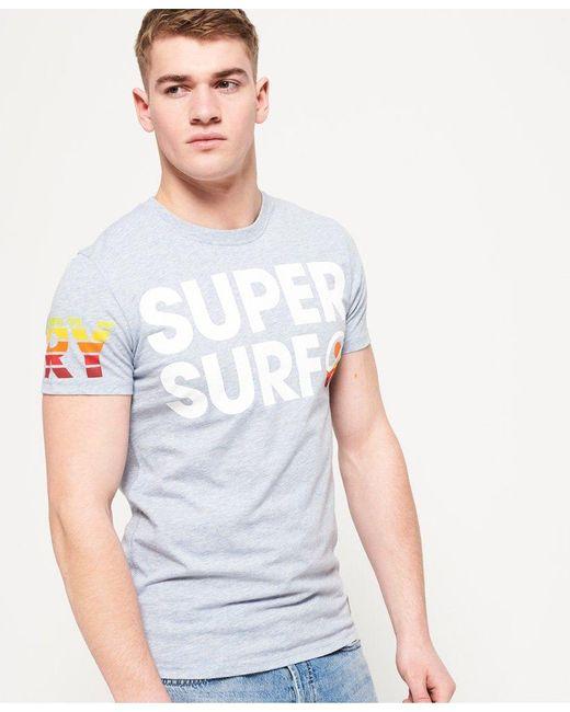 268f869c9 Superdry - Blue Super Surf Lite T-shirt for Men - Lyst ...