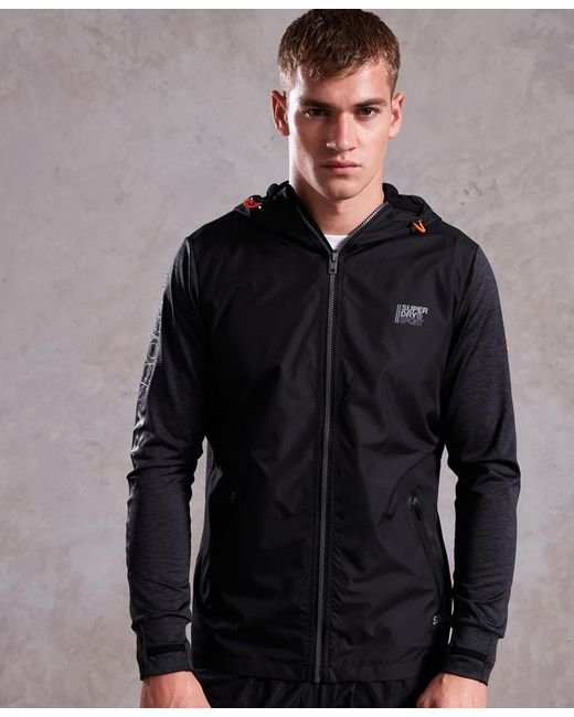 Superdry - Black Active Reflective Hybrid Jacket for Men - Lyst