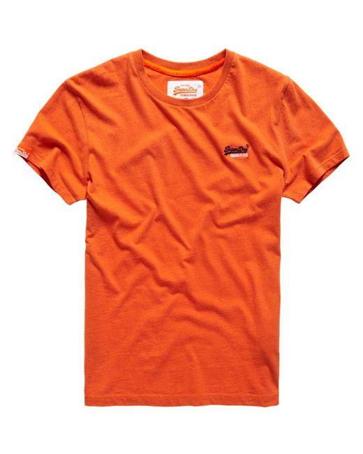 Superdry orange label vintage embroidery t shirt in