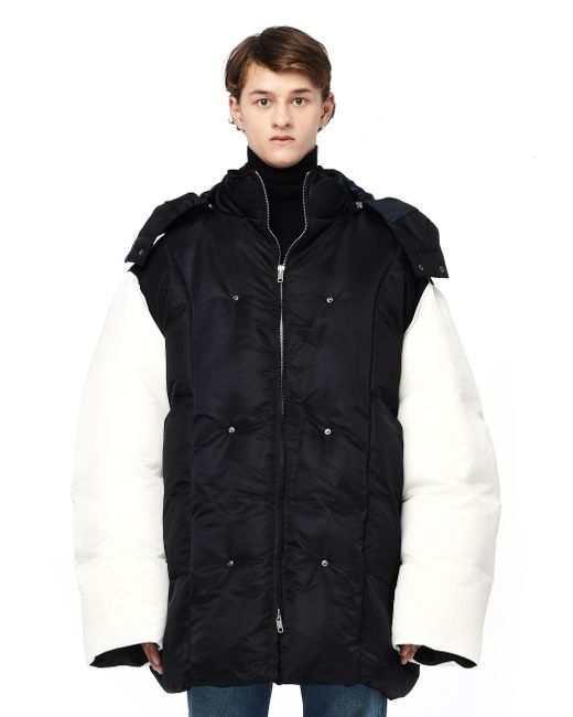 Raf Simons | Black Oversized Puffer Jacket for Men | Lyst