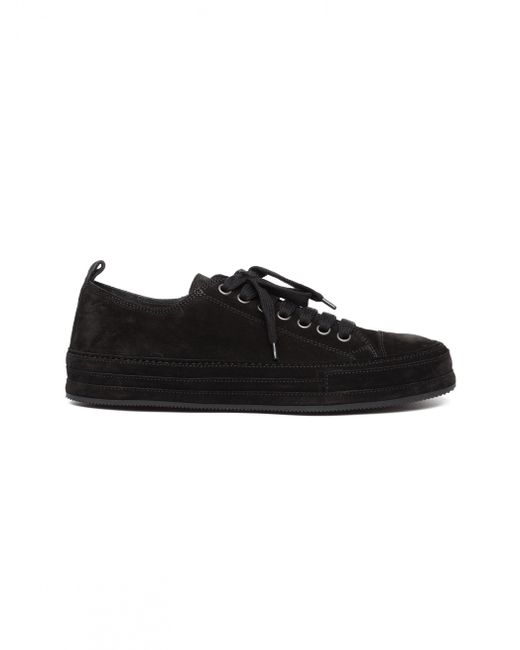 Ann Demeulemeester - Black Low-top Suede Sneakers - Lyst