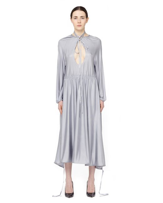 Vetements - Gray Asymmetric Cut-out Midi Dress - Lyst