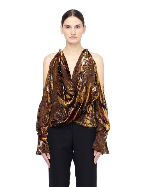 Urban Zen - Multicolor Velvet Blouse With Open Shoulders - Lyst
