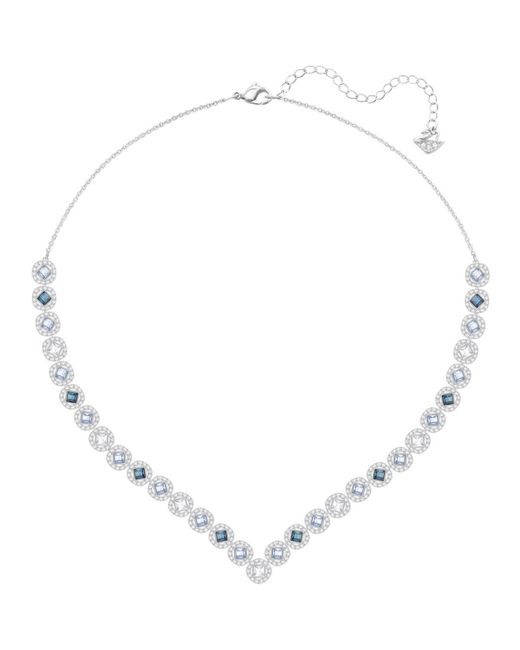 Swarovski - Metallic Angelic Square Necklace - Lyst