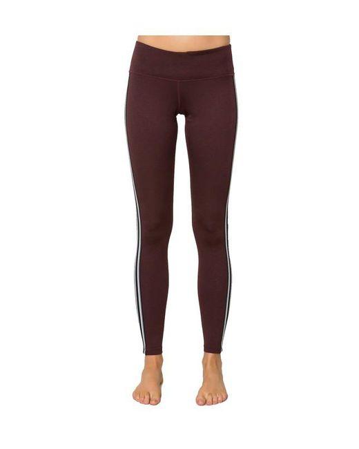 Spiritual Gangster | Purple Athletic Stripe Practice Legging Grey | Lyst