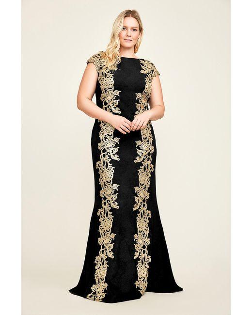 Lyst - Tadashi Shoji Briella Gown - Plus in Black