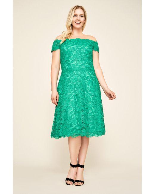 Lyst Tadashi Shoji Elidi Off The Shoulder Lace Dress Plus Size