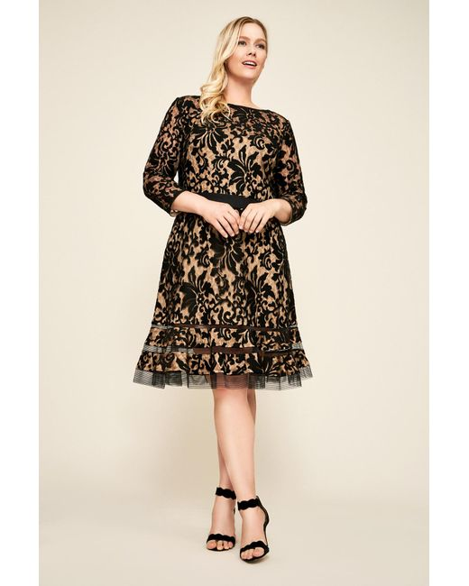 Tadashi Shoji - Black Kennedy Embroidered Lace Dress - Plus Size - Lyst ... 034453758ea4