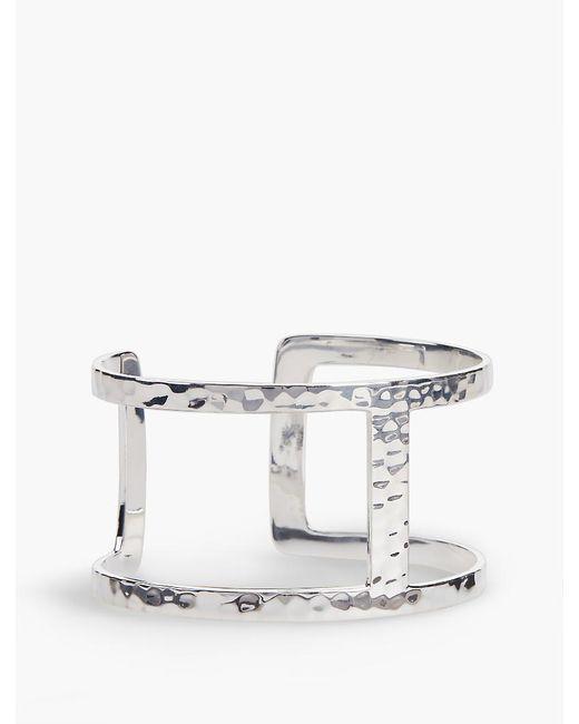 Talbots | Metallic Sterling Silver Hammered Cuff | Lyst