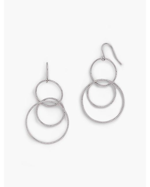 Talbots - Metallic Interlocking Hoop Drop Earrings - Lyst