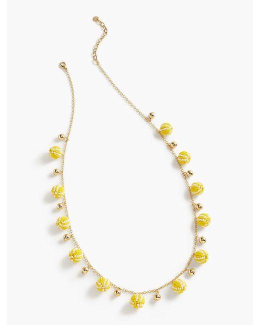 Talbots | Metallic Seed-bead Drop Necklace | Lyst