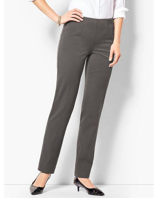 Talbots - Gray Refined Bi-stretch Straight-leg Pants - Lyst
