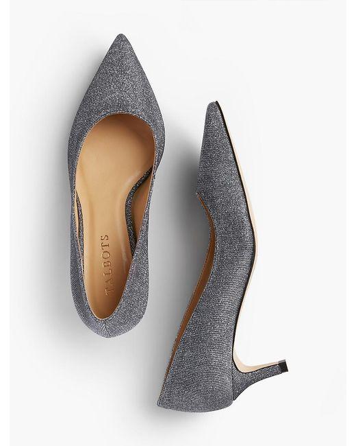 Talbots | Metallic Erica Lurex(r) Kitten Heel Pumps | Lyst