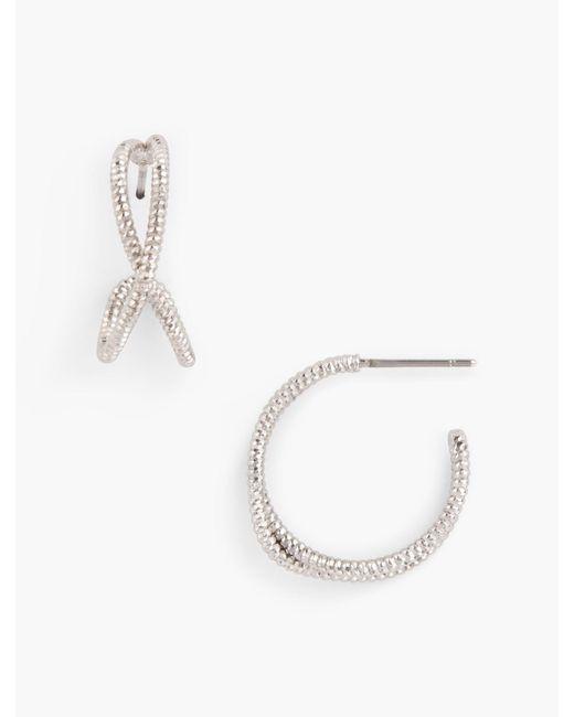 Talbots - Metallic Twist Hoop Earrings - Lyst