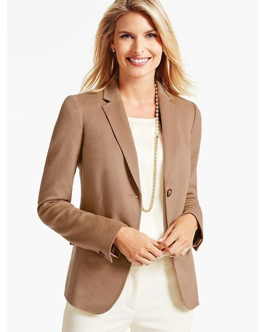 Talbots - Natural Camel Hair Blazer - Lyst