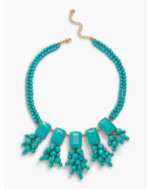 Talbots | Blue Oversized Bead Statement Necklace | Lyst