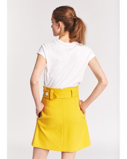 Tara jarmon Saffron Mini Wrap Skirt in White | Lyst