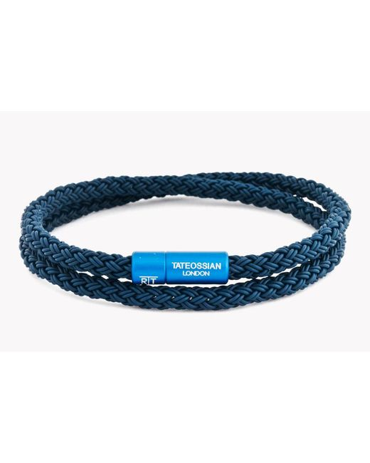 Tateossian - Blue Rt Rubber Cable Bracelet for Men - Lyst