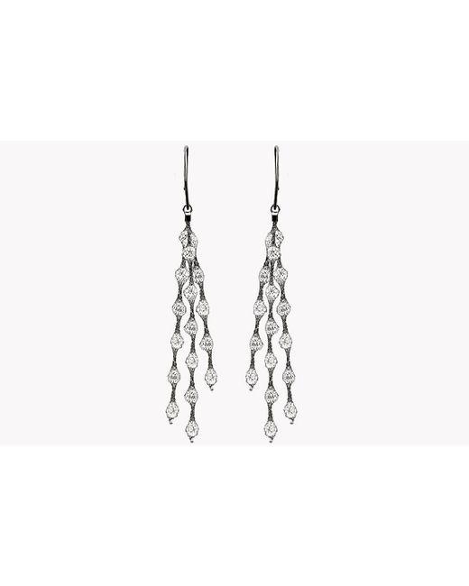 Tateossian | Metallic Liquid Diamonds Ruthenium Plated Silver Earrings | Lyst