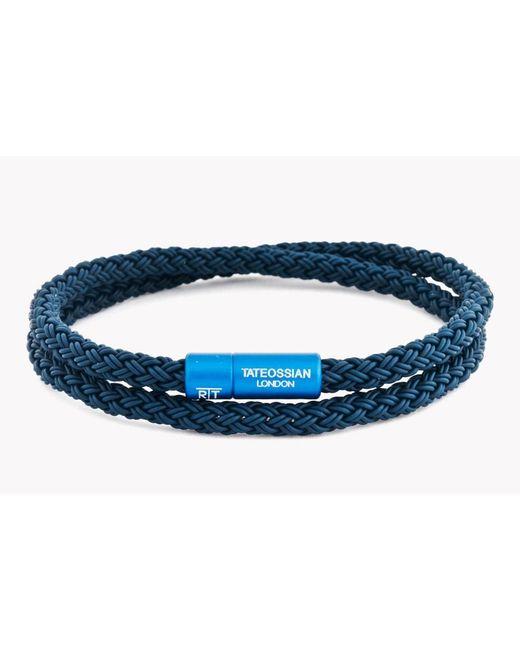 Tateossian   Blue Rt Rubber Cable Bracelet for Men   Lyst