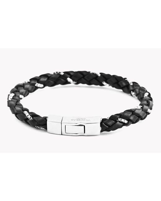 Tateossian   Black Click Scoubidou Weave Bracelet for Men   Lyst