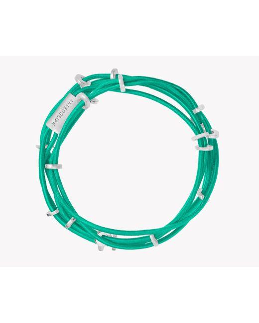 Tateossian | Green Capri Silver Friendship Bracelet | Lyst