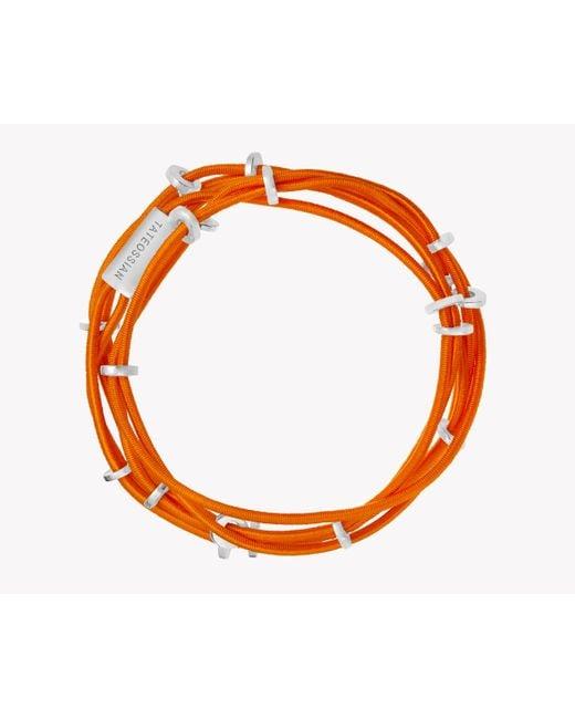 Tateossian | Orange Capri Silver Friendship Bracelet | Lyst
