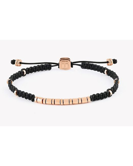 Tateossian | Metallic Macrame Bamboo Silver Discs Bracelet for Men | Lyst