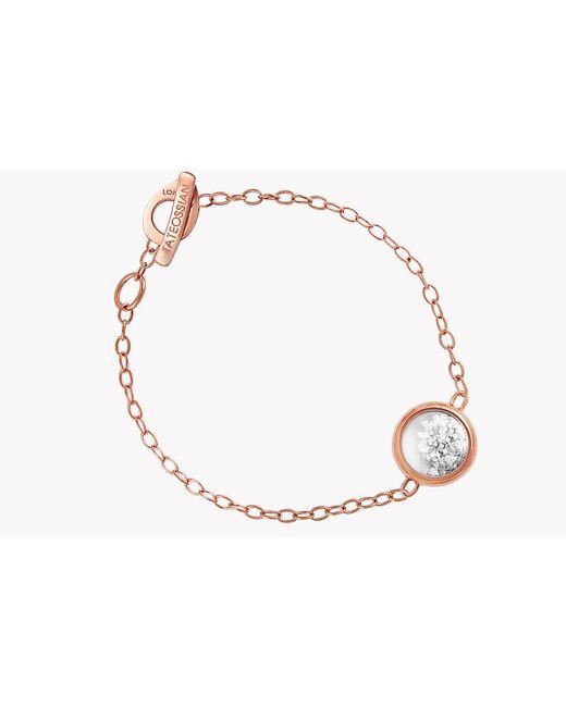 Tateossian | Metallic Diamond Dust Silver Bracelet With Rose Gold Finish | Lyst