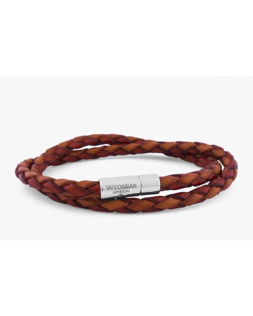 Tateossian | Red Double Wrap Two-tone Pop Bracelet for Men | Lyst