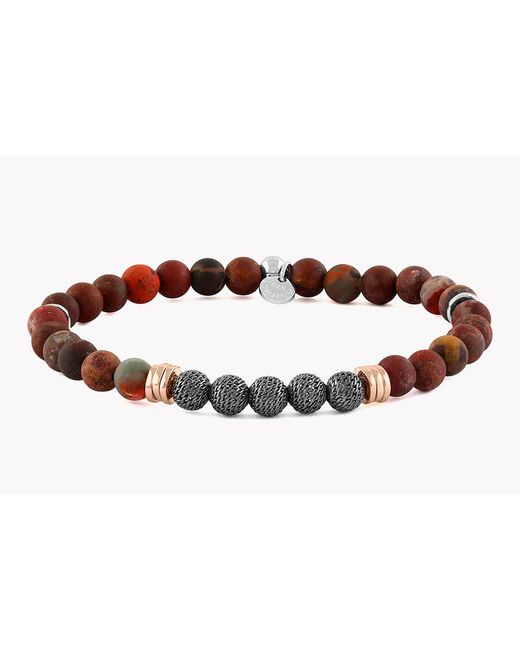 Tateossian - Red Stonehenge Silver Bracelet - Small Beads for Men - Lyst