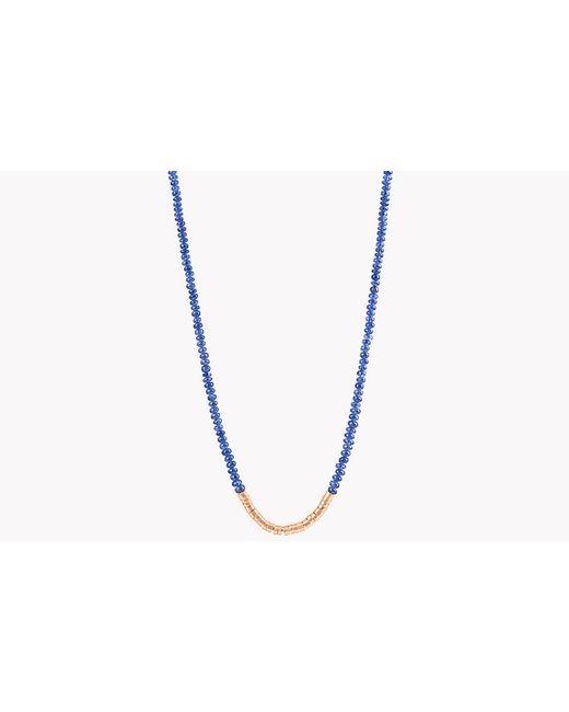 Tateossian - Metallic Bamboo Burmese Sapphire 18k Gold Necklace for Men - Lyst