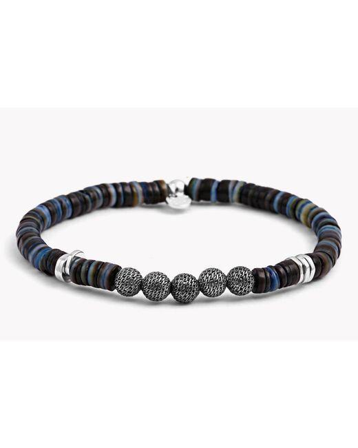 Tateossian - Multicolor Seychelles Mesh Silver Bracelet In Blue for Men - Lyst
