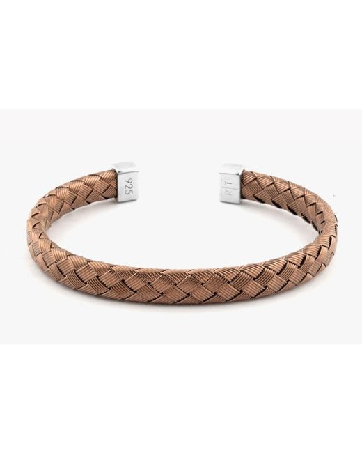 Tateossian - Brown Bamboo Silver Bangle for Men - Lyst