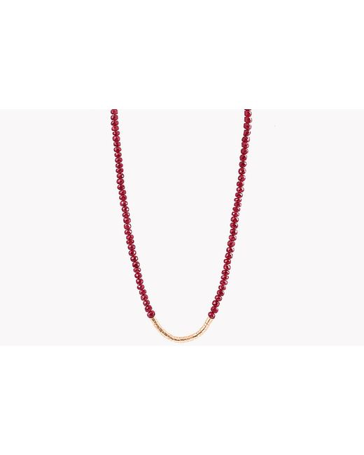 Tateossian | Multicolor Bamboo Ruby 18k Gold Necklace | Lyst