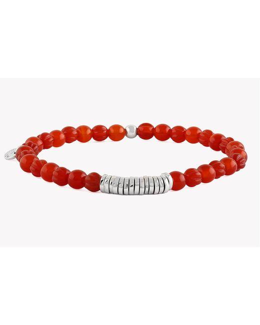 Tateossian - Red Disc Round Beaded Bracelet for Men - Lyst