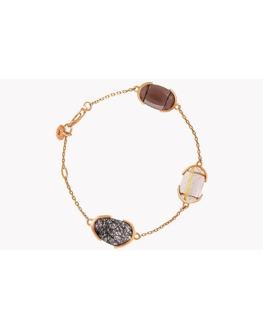 Tateossian - Metallic 18k Rose Gold Mayfair Bracelet With Quartz - Lyst