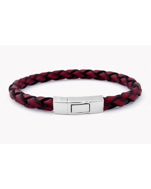Tateossian - Red Single Wrap Click Scoubidou for Men - Lyst