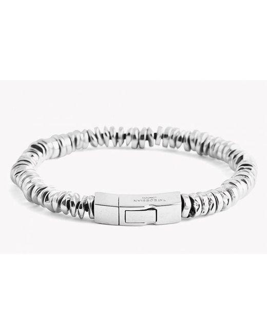 Tateossian - Metallic Click Bead Silver Bracelet for Men - Lyst