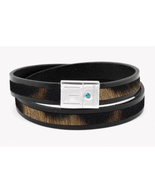 Tateossian   Amazonian Slide Silver Bracelet In Brown for Men   Lyst
