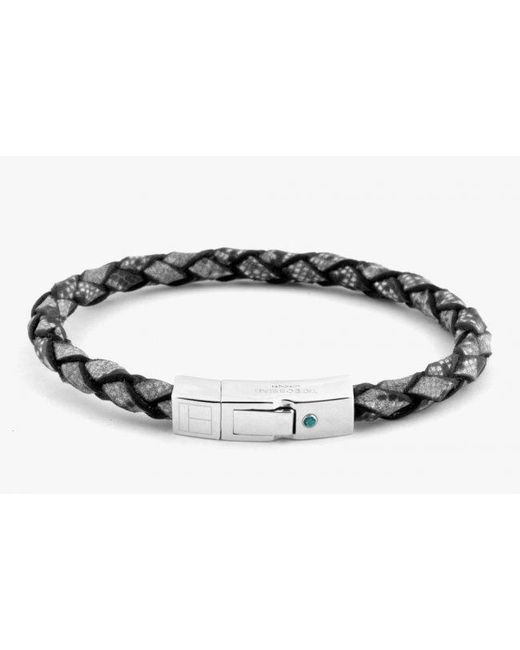 Tateossian | Gray Amazonia Silver Bracelet In Grey for Men | Lyst
