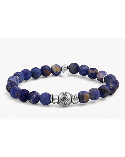 Tateossian | Blue Stonehenge Silver Bracelet for Men | Lyst