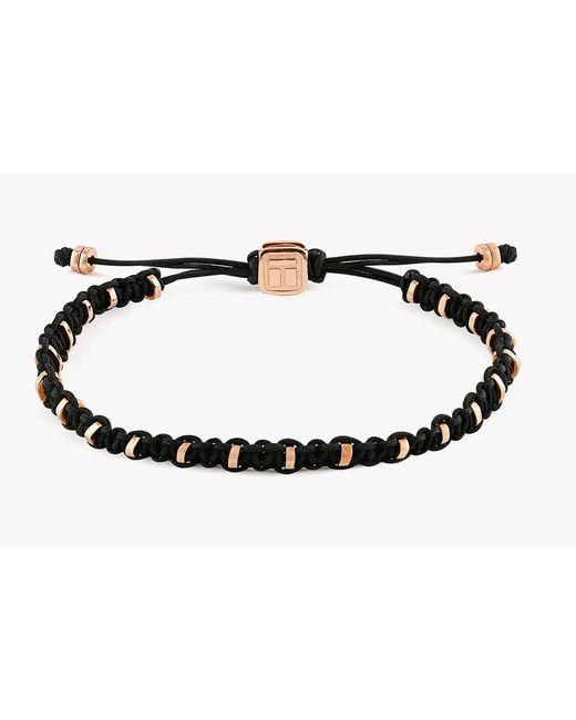 Tateossian | Metallic Macrame Bamboo Silver Bracelet for Men | Lyst