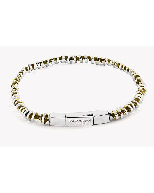 Tateossian | Yellow Mini Click Silver Beads Bracelet for Men | Lyst