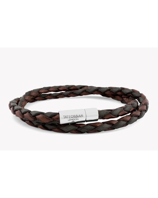 Tateossian | Brown Double Wrap Two-tone Pop Bracelet for Men | Lyst