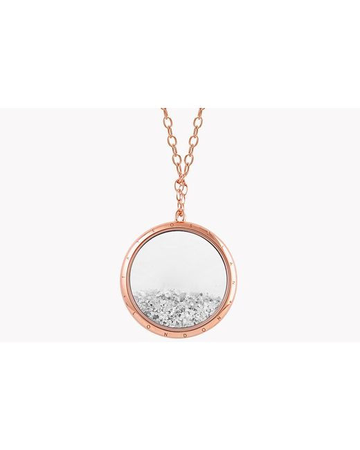 Tateossian - Metallic Diamond Dust Silver Necklace With Rose Gold Finish - Lyst