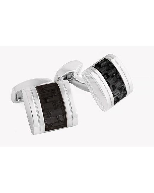 Tateossian - Interlock Belgravia Cufflinks In Black for Men - Lyst