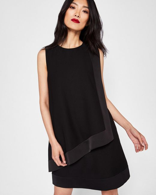Ted Baker - Black Double Layer Tunic Dress - Lyst