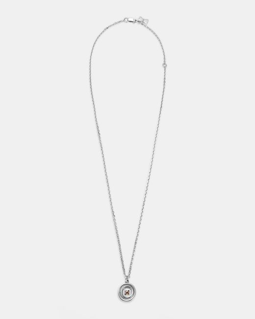 Ted Baker - Metallic Spinning Button Sterling Silver Pendant Necklace - Lyst