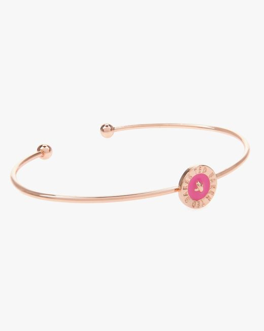 Ted Baker | Metallic Enamel Button Bangle | Lyst